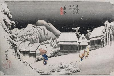 Night Snow, Kambara', from the Series 'The Fifty-Three Stations of the Tokaido'