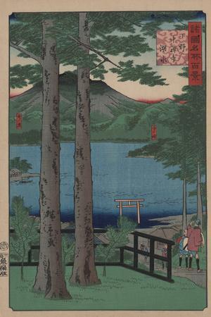 Chuzenji Lake in Shimozuke Province by Ando Hiroshige II