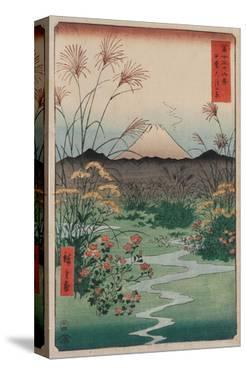 Otsuki Plain in Kai Province, from the series Thirty-six Views of Mount Fuji, 1858 by Ando Hiroshige