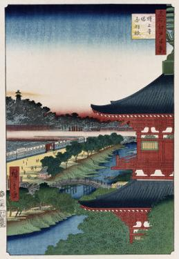 Pagoda of Zojoji, Akabane', from the Series 'One Hundred Views of Famous Places in Edo' by Ando Hiroshige