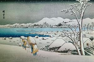 Paisaje Nevado, Grabado Japones by Ando Hiroshige