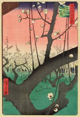 Plum Garden, Kameido, 1857 by Ando Hiroshige