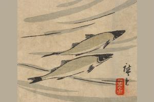 River Trout (Ayu Zu) by Ando Hiroshige