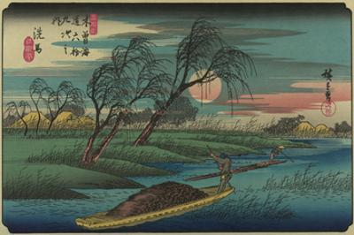 Sampans on the Ohta River by Ando Hiroshige