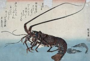 Shrimp and Lobster by Ando Hiroshige