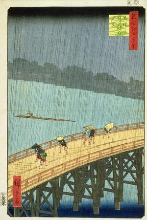 'Sudden Shower at Ohashi Bridge at Ataka', ('Ohashi, Atake No Yudachi') from the Series '100…