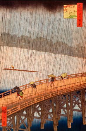 Sudden Shower by Ando Hiroshige