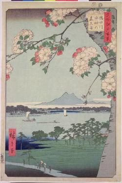 Suigin Grove and Masaki, on the Sumida River, from 'One Hundred Famous Views of Edo (Tokyo)', 1856 by Ando Hiroshige