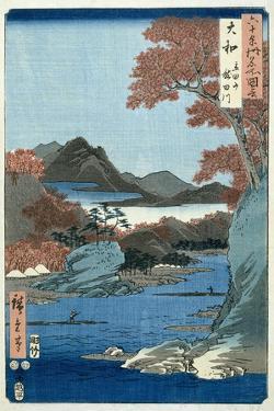 Tatsuta River, Yamato Province by Ando Hiroshige