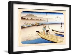 Tenryu River at Mitsuke by Ando Hiroshige