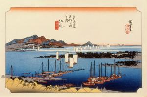 The 53 Stations of the Tokaido, Station 18: Ejiri-juku, Shizuoka Prefecture by Ando Hiroshige