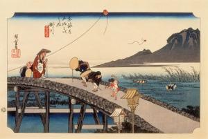 The 53 Stations of the Tokaido, Station 26: Kakegawa-juku, Shizuoka Prefecture by Ando Hiroshige