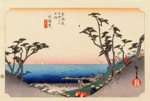 The 53 Stations of the Tokaido, Station 32: Shirasuka-juku, Shizuoka Prefecture by Ando Hiroshige