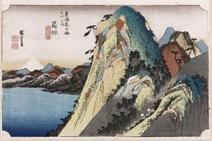 The Lake at Hakone, from 'Fifty-Three Stations of the Tokaido' by Ando Hiroshige