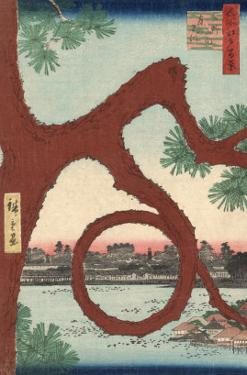 The Moon Pine on the Temple Precincts at Ueno by Ando Hiroshige