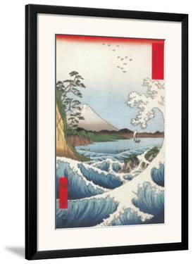 The Sea off Satta in Suruga Province by Ando Hiroshige