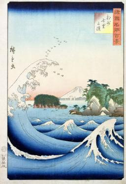 """The Wave, from the Series """"100 Views of the Provinces"""" by Ando Hiroshige"""