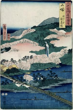 Togetsu Bridge and Mount Arashiyama, Yamashiro Province from 'Famous Places of the Sixty…