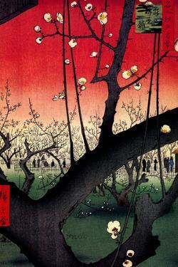 Utagawa Hiroshige Plum Estate in Kameido Plastic Sign by Ando Hiroshige