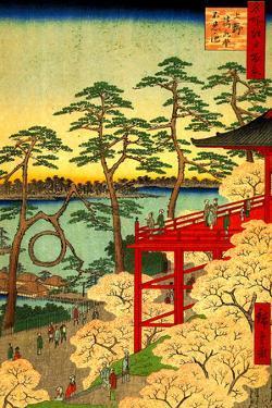 Utagawa Hiroshige Shinobazu Pond Plastic Sign by Ando Hiroshige