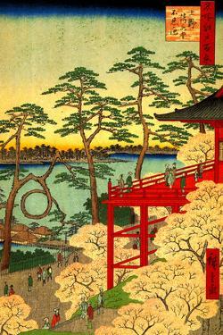 Utagawa Hiroshige Shinobazu Pond by Ando Hiroshige