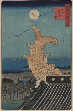 View of Bishu Nagoya by Ando Hiroshige