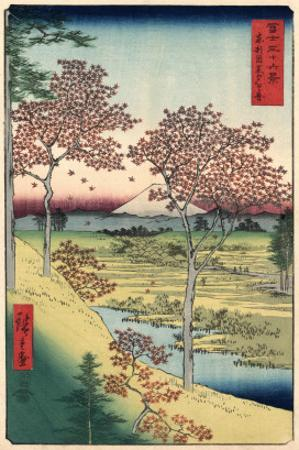 View of the Sunset at Meguro, Edo by Ando Hiroshige