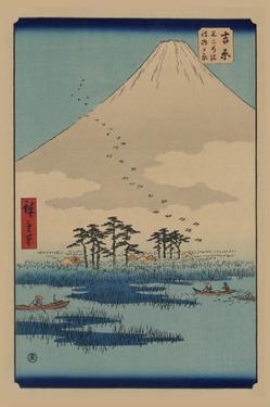 Yoshiwara by Ando Hiroshige