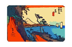 Yui: Path of Setta with Mount Fuji by Ando Hiroshige