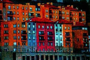 Colored Buildings by Andr? Burian