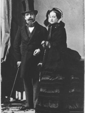 Emperor Napoleon III and Empress Eugenie, c.1865 by Andre Adolphe Eugene Disderi