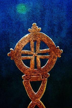 Gold Ethiopian Cross