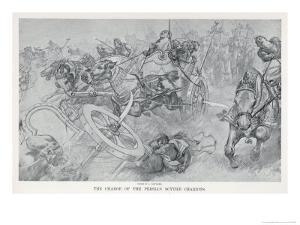 Persian War Chariots Charge Against Alexander the Great by Andre Castaigne