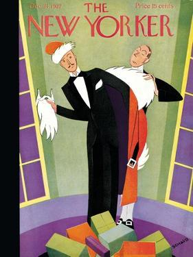 The New Yorker Cover - December 24, 1927 by Andre De Schaub
