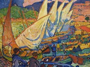 Fishing Boats, Collioure by Andre Derain