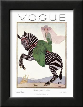 Vogue Cover - January 1926 by André E. Marty