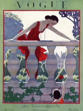 Vogue Cover - May 1924 by André E. Marty
