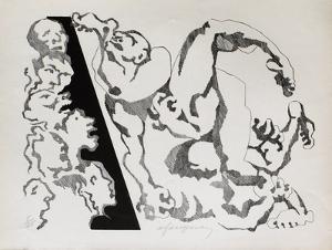 Lutte by André Fougeron