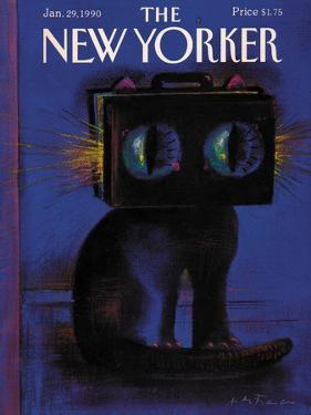 The New Yorker Cover - January 29, 1990 by Andre Francois
