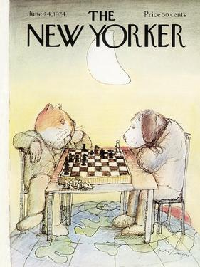 The New Yorker Cover - June 24, 1974 by Andre Francois