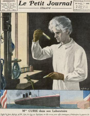 Marie Curie in Her Laboratory