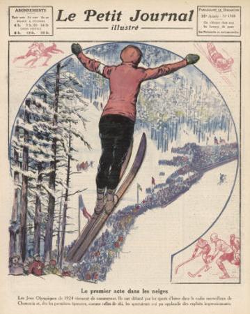 Winter Games at Chamonix: Ski Jumping Ice Hockey and Skating by Andre Galland
