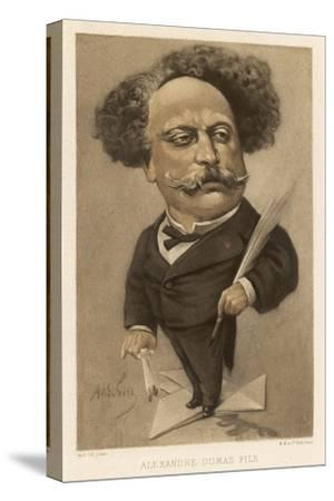 Alexandre Dumas Fils French Writer by André Gill
