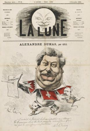 Alexandre Dumas (Pere) French Writer by André Gill