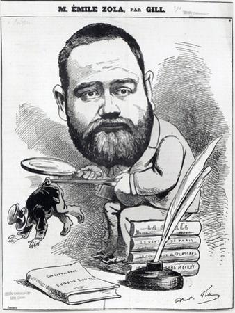 Emile Zola as a Naturalist, from 'L'Eclipse' by André Gill