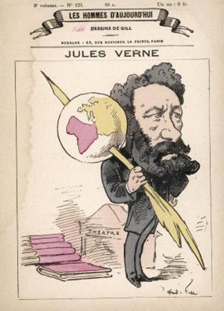Jules Verne French Science Fiction Writer by André Gill