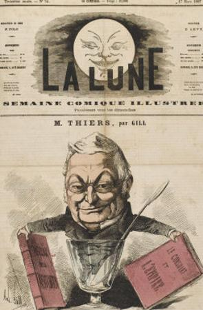 Louis-Adolphe Thiers French Statesman and Historian by André Gill