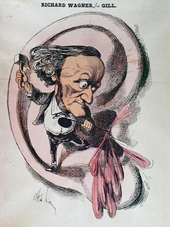 Richard Wagner Splitting the Ear Drum of the World, Illustration in 'L'Eclipse'