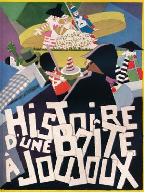 Cover Design by Andre Helle for Histoire Dune Boite a Joujoux, 1926, (1929) by Andre Helle