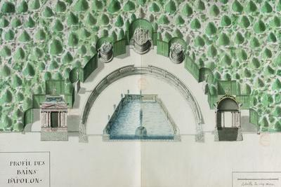Ms 1307/52 Design for the Baths of Apollo at Versailles